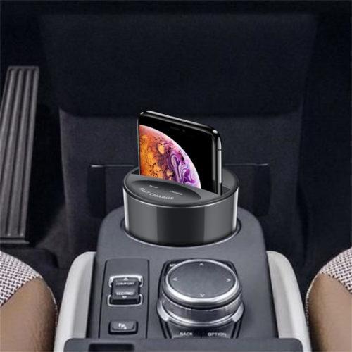 Беспроводное автомобильное зарядное устройство в подстаканник с функцией быстрой зарядки