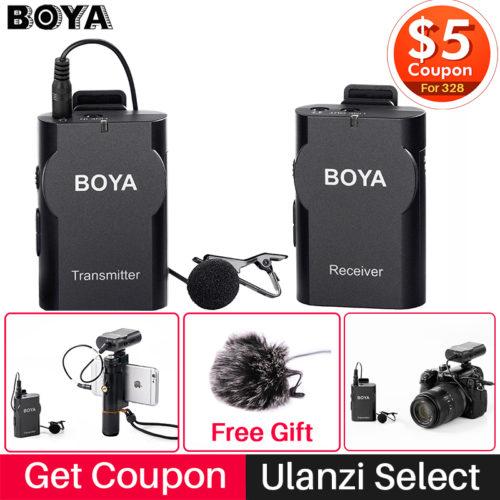 Boya BY-WM4 Профессиональный беспроводной петличный микрофон (микрофонный комплект)