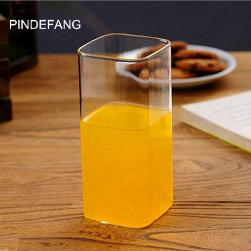 Термостойкий прозрачный стеклянный стакан 400/280 мл