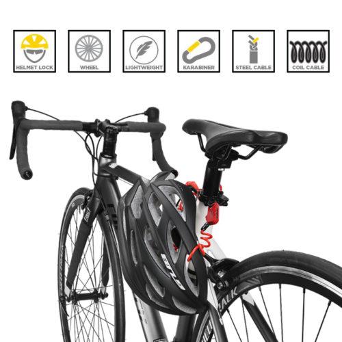 ULAC Противоугонный велосипедный спиральный шнур на кодовом замке