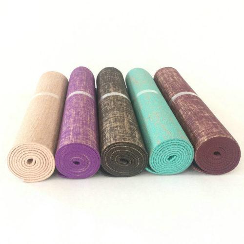 Льняной коврик для йоги