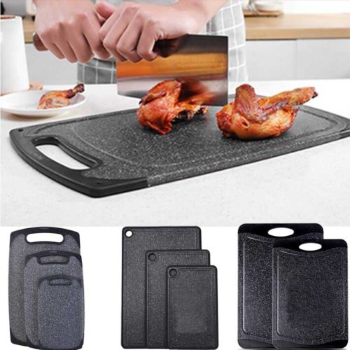 TEENRA черная пластиковая разделочная доска для кухни