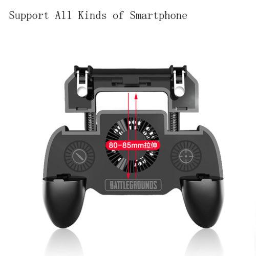Мобильный триггер L1R1 беспроводной геймпад джойстик держатель для телефона для игры в Pubg с вентилятором 4000/2000 мАч