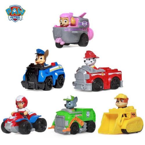 Игрушечные пластиковые игрушки фигурки машинки Щенячий патруль 6-10 см