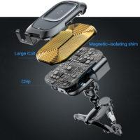 Подборка держателей для телефона с беспроводной зарядкой в автомобиль на Алиэкспресс - место 6 - фото 4