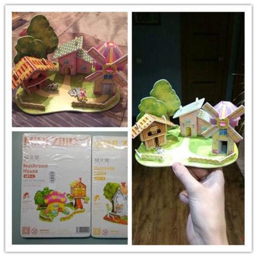 3D конструктор из плотного картона для детей