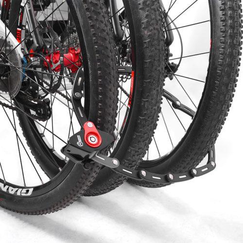 PAW Противоугонный велосипедный складной замок из металлических пластин с 2 ключами