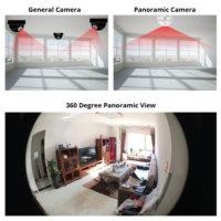 KERUI Скрытая IP-камера с обзором на 360 градусов и управлением по WI-FI