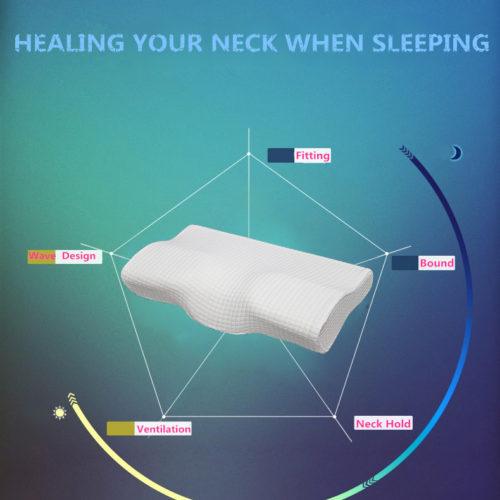 Shahnameh ортопедическая латексная подушка с выемкой для шеи 50 х 30 см