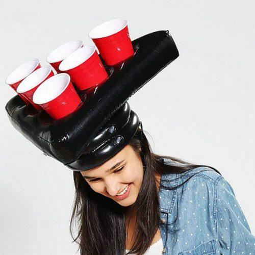 Надувная шляпа для игры в Бирпонг (Beer Pong)