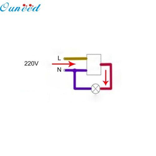 Инфракрасный датчик движения PIR в стандартный подрозетник