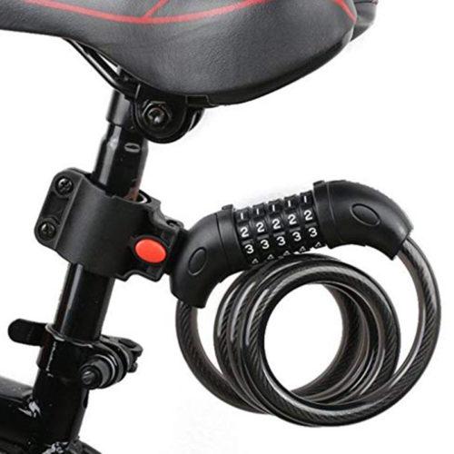 Противоугонный велосипедный трос замок с пятизначным шифром