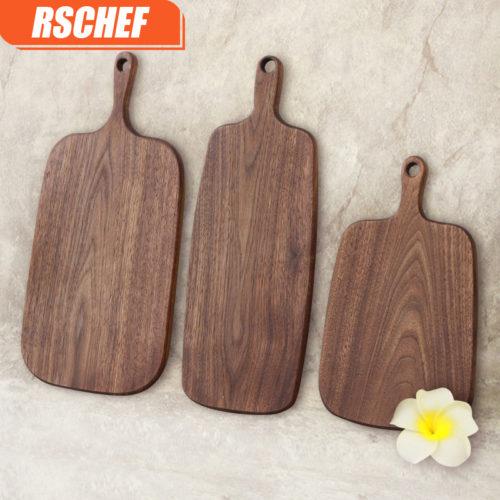 Деревянная разделочная доска для кухни (темный орех, разные размеры)
