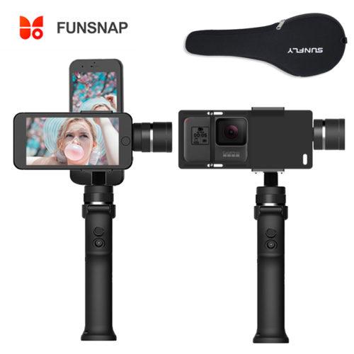 Funsnap capture 3 трехосевой ручной шарнирный стабилизатор держатель для телефона