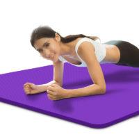 Нескользящий коврик для йоги 15 мм из бутадиен-нитрильного каучука 185 х 80 см