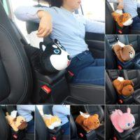 Подлокотник в авто в виде мягкой игрушки для салфеток