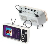 Беспроводная портативная ретро Hi-Fi Stereo Bluetooth колонка V4.1 динамик в виде винтажного телевизора