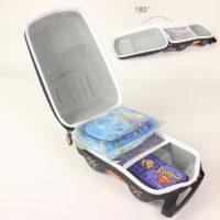 Детский водонепроницаемый твердый 3D рюкзак в виде машинки (высота 23,5 см) для мальчиков