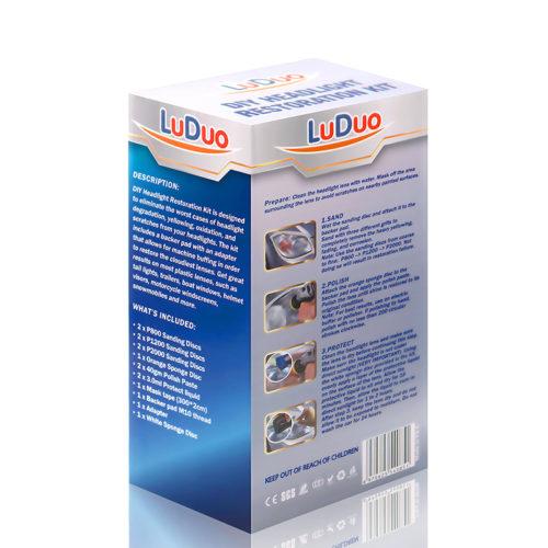Набор для полировки фар LuDuo