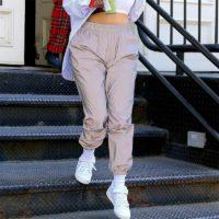 Светоотражающие женские спортивные штаны с высокой талией