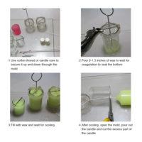 Цилиндрическая прозрачная пластиковая форма для изготовления свечей (высота 4/6/8/10 см)