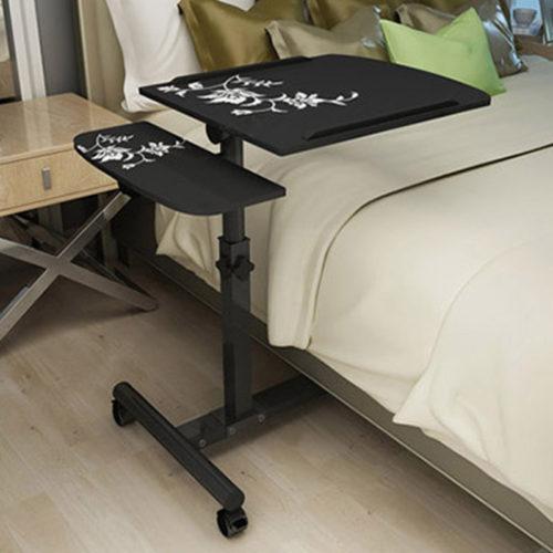 Передвижной прикроватный складной столик с регулируемой высотой для ноутбука