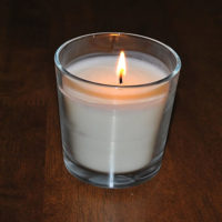 Стеклянный стакан для свечей 12 см