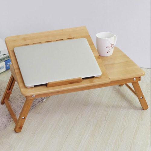 Actionclub портативный складной бамбуковый столик подставка с вентилятором для ноутбука