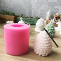 Силиконовая форма для изготовления свечей в виде шишки