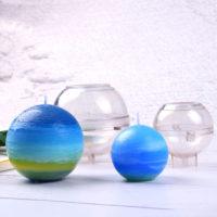 Прозрачная пластиковая форма для изготовления свечей (пирамида, сфера)