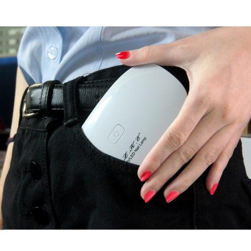 LKE 12W LED UV Micro USB мини сушилка гель-лака лампа для ногтей