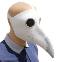 Латексная маска Чумного доктора (черная или белая)