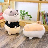 Мягкая плюшевая игрушка милая собака Шиба-ину 40 см