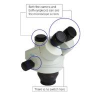 Luckyzoom 3.5X-90X Simul-Focal Тринокулярный cтерео микроскоп