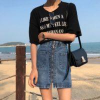 Популярные джинсовые юбки с Алиэкспресс - место 1 - фото 2