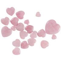 Розовый кварц в форме сердца (разные размеры)