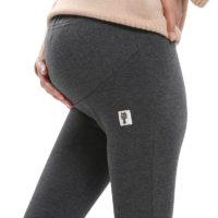 Женские теплые зимние леггинсы штаны для беременных