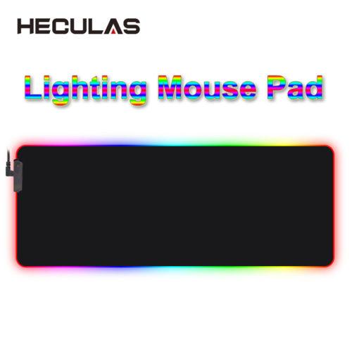 HECULAS светящийся RGB LED коврик для мыши 25×35 см, 35×75 см