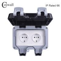Coswall IP66 Влагозащищенные розетки с крышкой для улицы