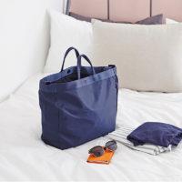 Водонепроницаемая дорожная синяя или зеленая сумка с ручками и ремнем на плечо для путешествий