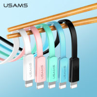 Плоский кабель для зарядки USAMS 2A microUSB/type-c/lightning