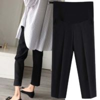 Черные брюки со стрелкой для беременных