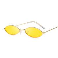 Солнцезащитные винтажные женские очки в стиле ретро овальной формы в металлической оправе