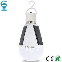 Светодиодная LED лампочка E27 с солнечной батареей