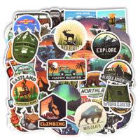 Набор стикеров на туристическую тематику (50 шт)
