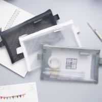 Прозрачный сетчатый пенал для канцелярии для учебы