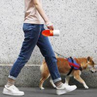 Портативная бутылка для воды для прогулок с собаками