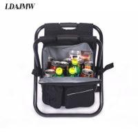 Складной стул с термо рюкзаком для рыбалки или походов на природу