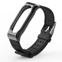 Силиконовый ремешок с дырочками для фитнес браслета Xiaomi Mi Band 2