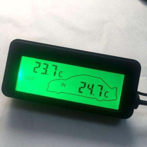 Автомобильный цифровой термометр с ЖК дисплеем